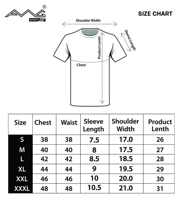 AWG Men's Dryfit Polyester Round Neck Half Sleeve T-Shirts - Pack of 2