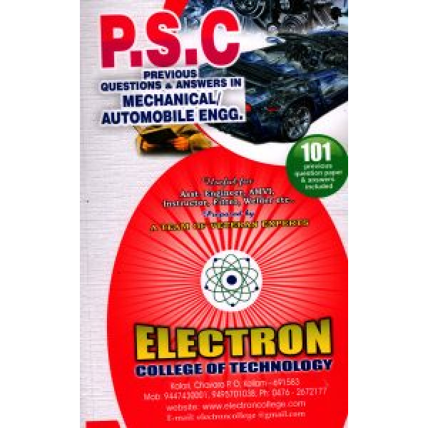 PSC PQ MECHANICAL/AUTOMOBILE ENGG.